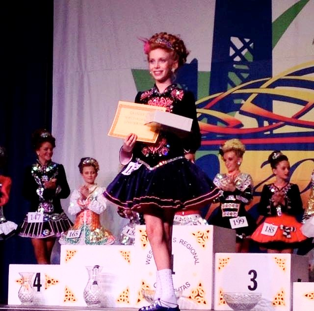U11 Dancer at the awards ceremony