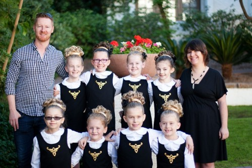 U10 Ceili Team with Ann and Michael Pat